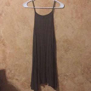 Olive Green, mini/midi sun dress. Size L.